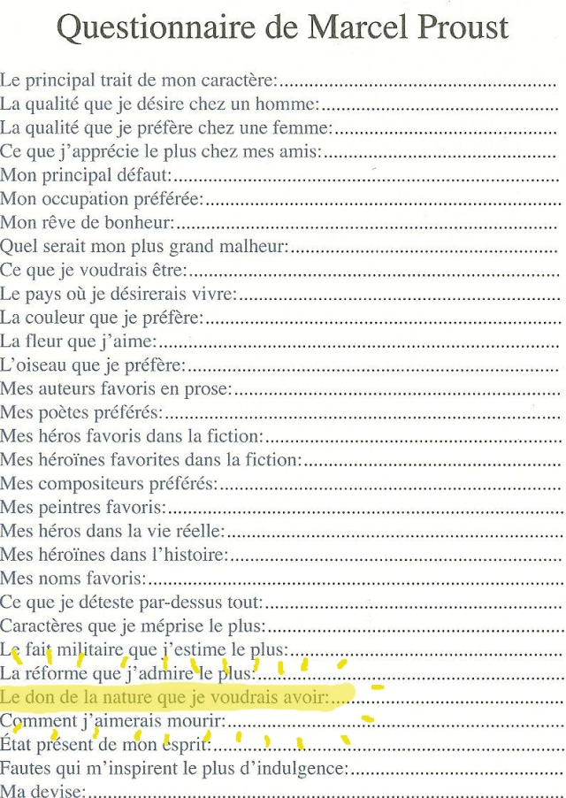 questionnaire de proust copie