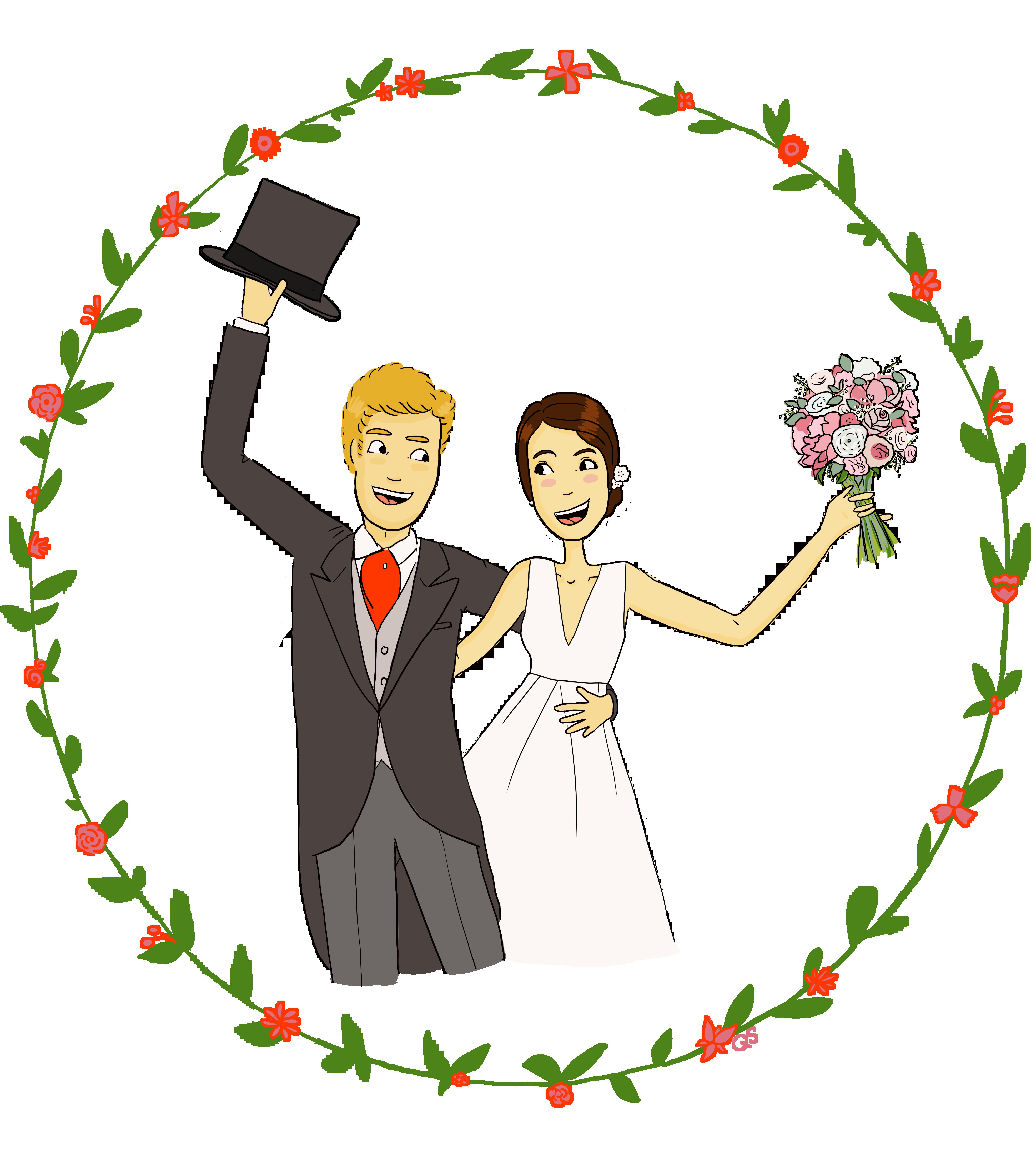 VF mariés fleurs Ma et Gui